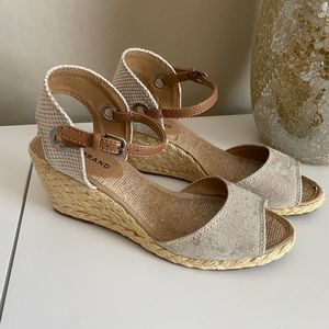 Lucky Brand Kyndra Espadrille Wedge Sandals Size 8